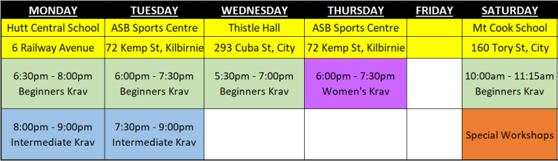 Timetable Excel Chart 2018 Term 1 _Short